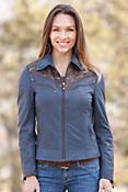 Women's Caroline Lambskin Leather Jacket