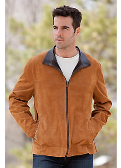 Men's Colby Reversible Lambskin Leather and Suede Jacket