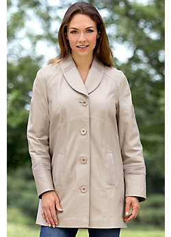 Women's Cadence Lambskin Leather Stroller Coat