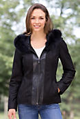 Women's Gabrina Diamond Embossed Leather Jacket