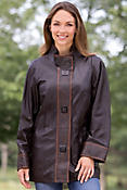 Women's Joetta Lambskin Leather Coat