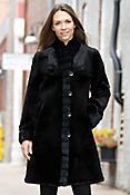 Women's Clara Reversible Rabbit Fur Coat