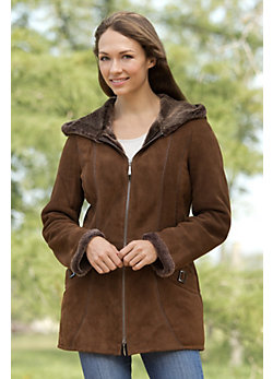 Women's Quinn Shearling Sheepskin Duffle Coat