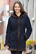 Dara Shearling Sheepskin Coat with Mink Fur Trim