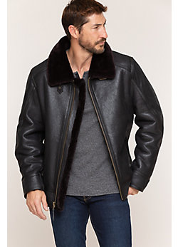 Men's Brody Shearling Sheepskin Bomber Jacket