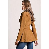 Vera Reversible Goatskin Suede Leather Jacket, WHISKEY, Size 2