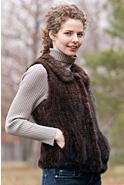 Women's Bonnie Knitted Mink Fur Vest