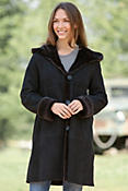 Women's Ellery Hooded Shearling Sheepskin Coat