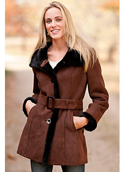 Women's Sutton Shearling Sheepskin Coat