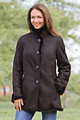 Women's Jillian Shearling Sheepskin Coat with Mink Trim