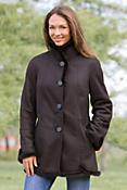 Women's Jillian Shearling Sheepskin Coat with Mink Trim