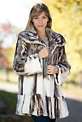 Women's Antoinette Mink Fur Coat