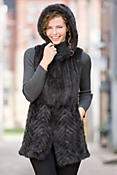 Women's Lexi Knitted Mink Fur Vest
