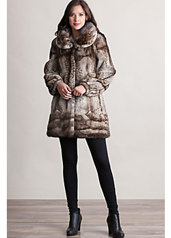 Women's Gilda Semi-Sheared Mink Fur Coat