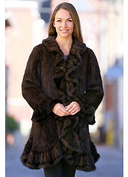 Women's Marlee Knit Mink Fur Stroller