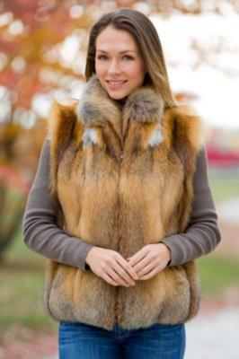 Bailey Cross Fox Fur Vest