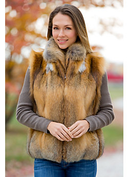 Bailey Cross Fox Fur Vest