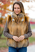 Women's Bailey Fox Fur Vest