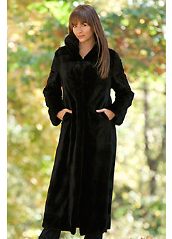 Women's Karina Reversible Sheared Mink Fur Coat
