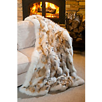 Golden Island Fox Fur Blanket Western & Country