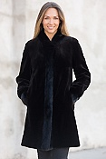 Women's Paloma Reversible Sheared Mink Fur Coat