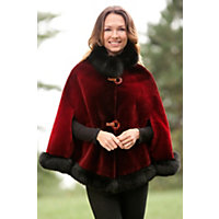 Celia Beaver Fur Cape with Fox Fur Trim $3,995.00 AT vintagedancer.com