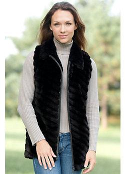 Women's Kaylee Sheared Beaver Fur Vest
