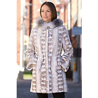Women's Sheridan Danish Sheared Mink Fur Coat, Creme, Size 12 Western & Country
