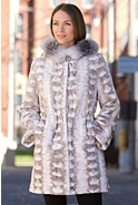 Women's Sheridan Sheared Danish Mink Fur Coat