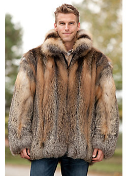 Men's Embassy Cross Fox Fur Coat