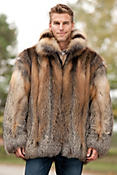 Embassy Cross Fox Fur Coat