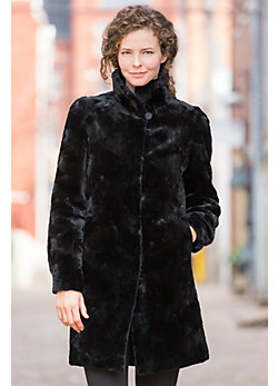 Women's Bridget Reversible Danish Mink Fur Coat