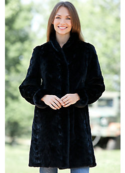 Women's Selena Reversible Short Mink Fur Coat
