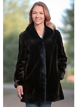 Women's Delia Reversible Sheared Mink Fur Coat