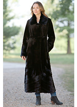 Women's Magdalena Directional Danish Mink Coat