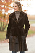 Women's Mackenzie Hooded Danish Mink Fur Coat