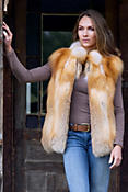 Women's Ashten Canadian Red Fox Fur Vest