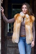 Jenny Canadian Red Fox Fur Vest
