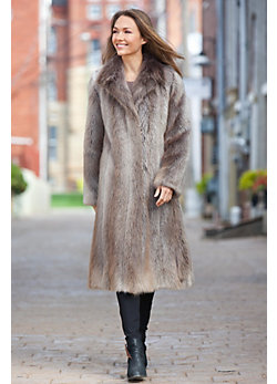 Corella Long-Haired Beaver Fur Coat