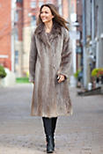 Women's Corella Long-Haired Beaver Fur Coat