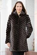 Verity Hooded Canadian Beaver Fur Coat