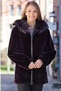 Women's Nico Sheared Beaver Fur Hooded Parka with Fox Fur Trim