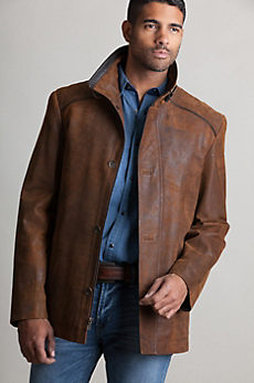 Cheyenne Lambskin Leather Jacket with Removable Red Fox Fur Lining