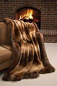 Winter Palace Sheared Beaver Fur Blanket (88 x 88 Queen)