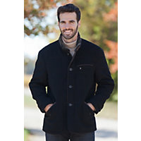 Men's Bay Bridge Quilted Cashmere-Blend Wool Jacket, Black / Darkbrown, Size 40 Western & Country
