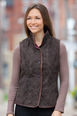 Naomi Sueded Lambskin Leather Vest