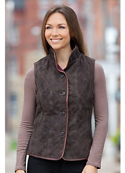 Women's Naomi Sueded Lambskin Leather Vest