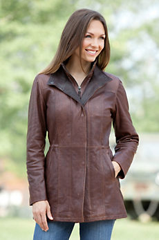 Angelina Lambskin Leather Jacket