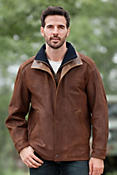 Men's Two Rivers Goatskin Leather Jacket