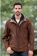Men's Two Rivers Goatskin Leather Jacket